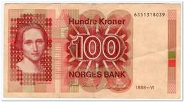 NORWAY,100 KRONER,1986,P.43d,aVF - Norway