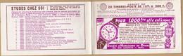 23125# CARNET DE 20 TIMBRES POSTE A 15 F VIDE S6-55 SOCIETE HORLOGERIE DOUBS ESSO PERNET DUCHER - Usage Courant