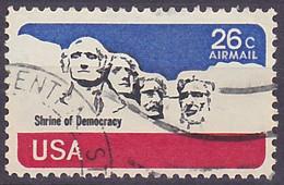 Timbre PA Oblitéré N° 81(Yvert) États-Unis 1974 - Mémorial National Du Mont Rushmore - 3a. 1961-… Gebraucht
