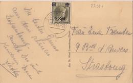 23132# GRANDE DUCHESSE CHARLOTTE OCCUPATION ALLEMANDE CARTE POSTALE LUXEMBOURG 1941 STRASBOURG BAS RHIN - 1940-1944 German Occupation