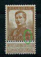 Pellens  N° 113 V1  (* ) Double Point Après Belgique - Plaatfouten (Catalogus OCB)