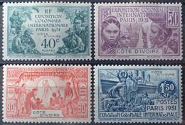R2452/310 - 1931 - EXPOSITION COLONIALE De PARIS - SERIE COMPLETE - COLONIES FR. - COTE D'IVOIRE - N°84 à 87 NEUFS* - Neufs