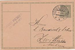 Czechoslovakia, 1930, Card Sent 11.5.1930 By Mail (railway) Train Košice - Bohumín, Mail Train Course 969 - Covers & Documents