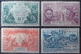 R2452/314 - 1931 - EXPOSITION COLONIALE De PARIS - SERIE COMPLETE - COLONIES FR. - GABON - N°121 à 124 NEUFS* - Unused Stamps