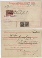 Brazil 1914 Money Order From Estância To Bahia Vale Postal Stamp 50$ Réis Próceres 300 Réis - Briefe U. Dokumente