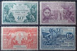 R2452/316 - 1931 - EXPOSITION COLONIALE De PARIS - SERIE COMPLETE - COLONIES FR. - GUINEE - N°115 à 118 NEUFS* - Unused Stamps