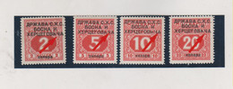 BOSNIA AND HERZEGOVINA SHS YUGOSLAVIA  Postage Due Plate Error HERCEGOVICA Hinged Certificat TUBINOVIC - Bosnie-Herzegovine