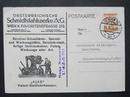 KARTE Wien - Gross Gerungs 1928 Schmidtstahlwerke //   D*48725 - Lettres & Documents