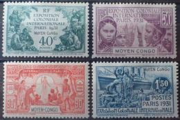 R2452/321 - 1931 - EXPOSITION COLONIALE De PARIS - SERIE COMPLETE - COLONIES FR. - CONGO - N°109 à 112 NEUFS* - Ungebraucht