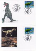 2 Cartes Regards Sur La Nature. ALLOSAURE. Oblitération 17.06.2000 PARIS - TBE - Other