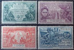 R2452/328 - 1931 - EXPOSITION COLONIALE De PARIS - SERIE COMPLETE - COLONIES FR. - TOGO - N°161 à 164 NEUFS* - Nuovi
