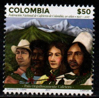 A554P-COLOMBIA- 2017 - MNH- NATIONAL FEDERATION OF COFFEE, 90 YEARS. - Colombia