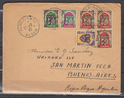 Brief Van Alger-Gare Alger Naar Buenos Aires (Argentinie) - Briefe U. Dokumente