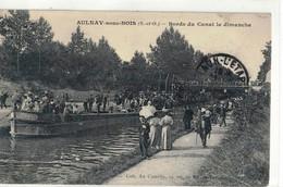 CPA   AULNAY Sous BOIS  Bord Du Canal Le Dimanche - Other Municipalities