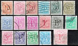 Belgium 1951-1985 Heraldic Lion Partial Set USED - 1951-1975 Lion Héraldique
