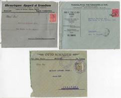 Brazil 1927 / 1935 3 Cover + 3 Front Cover ComercialBrusque / SC Companies Vovó Issue - Briefe U. Dokumente