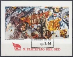 DDR  Block 63, Postfrisch **, Parteitag Der SED 1981 - Bloques