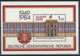 DDR  Block 77, Postfrisch **, 35 Jahre DDR 1984 - Bloques