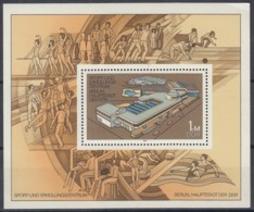 DDR  Block 64, Postfrisch **, Sportzentrum 1981 - Bloques