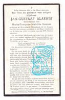DP Jan Gustaaf Alaerts ° Molenbeek-Wersbeek Bekkevoort 1873 † 1952 X Maria Françoise Bosman - Devotion Images