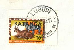 Katanga 1960 10 25  LUBUDI    With Border Avec Bord De Feuille Bladboord See Scan Par Avion Belgian Congo Belge Kongo - Katanga