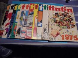 Tintin De 1975 Lot De 11 N°s 1 à 10 + 11 Magazines Bien Complets - Tintin