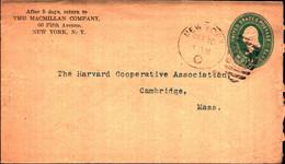 36262) Biglietto Postale Da 2 C. Franklin Verde Degli Stati Uniti-bollo New York - Briefe U. Dokumente