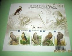 Blok 182** Vogels 25 Jaar Hoogvliegers In De Filatelie 4030/34** 25 Ans De Timbres De Haut Vol / A.Buzin. - 1985-.. Oiseaux (Buzin)