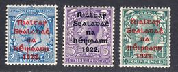 Ireland 1922 Mint No Hinge, Sc# ,SG 35,36,37 - Unused Stamps
