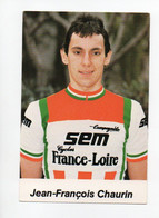 CYCLISME  TOUR DE FRANCE   JEAN FRANCOIS CHAURIN - Cycling