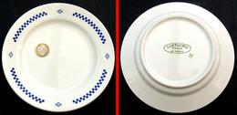 Ancienne Assiette à Desserts Publicitaire Pâtes LUSTUCRU 18 Cm Fabriquée UKRAINE - Plates