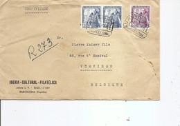Espagne ( Lettre De 1949 De Barcelone Vers La Belgique à Voir) - 1931-50 Briefe U. Dokumente