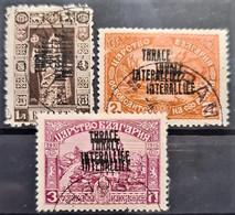 THRACE 1919 - Canceled - Sc# N13-N15 - Double Overprint - Thrakien
