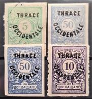 THRACE 1920 - MLH/canceled - Sc# NJ4, NJ7, NJ8 - Postage Due - Thrakien