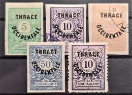 THRACE 1920 - MLH/canceled - Sc# NJ4-NJ8 - Postage Due - Thrakien