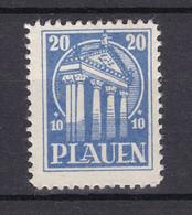 Plauen - Deutsche Lokalausgaben - 1945 - Michel Nr. 7 - Ungebr. - Occupation 1938-45