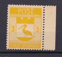 Storkow - Deutsche Lokalausgaben - 1945 - Michel Nr. 9 A Rand - Ungebr. - Occupation 1938-45