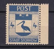 Storkow - Deutsche Lokalausgaben - 1945 - Michel Nr. 10 A Rand - Ungebr. - Occupation 1938-45
