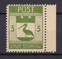 Storkow - Deutsche Lokalausgaben - 1945 - Michel Nr. 11 A Rand - Ungebr. - Occupation 1938-45