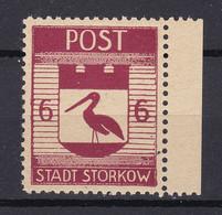 Storkow - Deutsche Lokalausgaben - 1945 - Michel Nr. 12 A Rand - Ungebr. - Occupation 1938-45