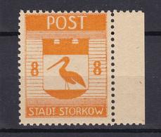Storkow - Deutsche Lokalausgaben - 1945 - Michel Nr. 13 A Rand - Ungebr. - Occupation 1938-45
