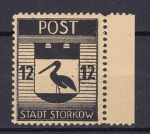 Storkow - Deutsche Lokalausgaben - 1945 - Michel Nr. 14 A Rand - Ungebr. - Occupation 1938-45