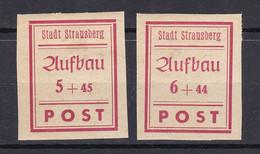 Strausberg - Deutsche Lokalausgaben - 1946 - Michel Nr. 34/35 B - Ungebr. - Occupation 1938-45