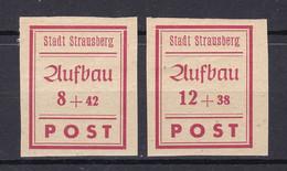 Strausberg - Deutsche Lokalausgaben - 1946 - Michel Nr. 36/37 B - Ungebr. - Occupation 1938-45