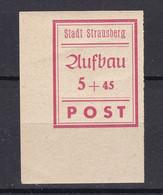 Strausberg - Deutsche Lokalausgaben - 1946 - Michel Nr. 34 B Ecke - Ungebr. - Occupation 1938-45