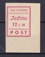 Strausberg - Deutsche Lokalausgaben - 1946 - Michel Nr. 37 B Ecke - Ungebr. - Occupation 1938-45