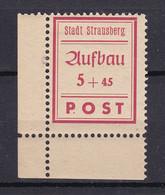 Strausberg - Deutsche Lokalausgaben - 1946 - Michel Nr. 34 A Ecke - Ungebr. - Occupation 1938-45