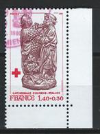 CC-/-519--. N° 2117a, OBL. CROIX ROUGE , Du Carnet 1980, Dent  12 ½ X 13,  EMIS UNIQUEMENT En CARNET, VERSO SUR DEMANDE - Oblitérés