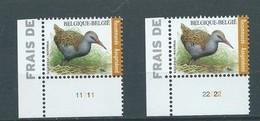 BUZIN 4671** Waterral / Râle D'eau ** PL 1 & 2 Zegels Voor Aangetekende Zending / Timbres Recommandé - 1985-.. Oiseaux (Buzin)