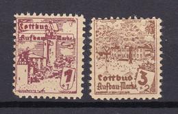 Cottbus - Deutsche Lokalausgaben - 1946 - Michel Nr. 1/2 - Ungebr. - Occupation 1938-45